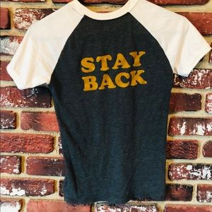 STAY BACK 🖤 Juniors XS Tee